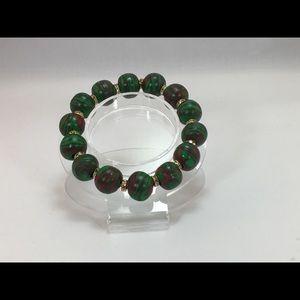Unique Handmade Polymer Clay Bracelet & Earrings